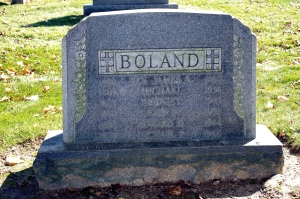 The Boland family monument, Holy Sepulchre Cemetery.