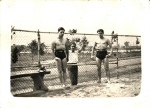 Grandpop's physique, at right.