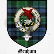 The Clan Graham crest and tartan.