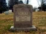 The Ochs monument at Lawnview Cemetery.