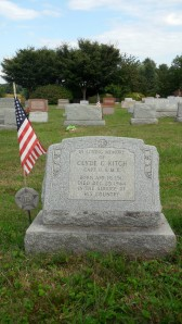 Clyde C. Kitch's grave site.