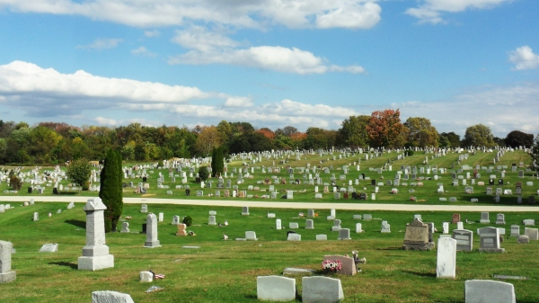 Fall foliage at Fernwood Cemetery, Find-A-Grave Community Day, 18 Oct 2014