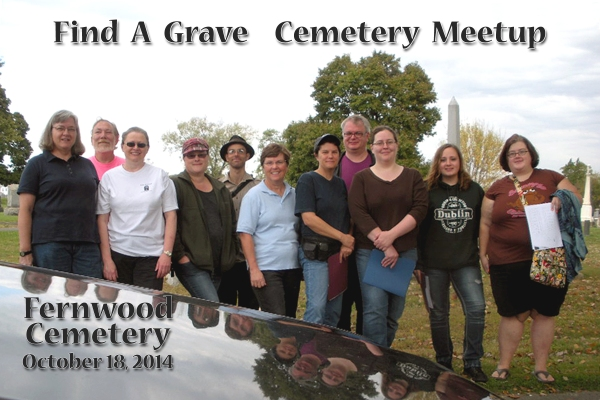 The Lansdowne Find-A-Grave Meetup, gathered at Fernwood Cemetery for Community Day.