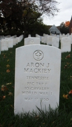 Click for Find-A-Grave Memorial: Aron J. Mackiey