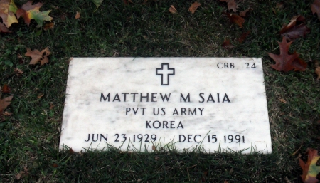Click for Find-A-Grave Memorial: Matthew M. Saia